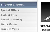 Lincoln.com shopping tools